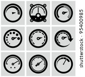 circular gauges icons set. | Shutterstock .eps vector #95400985