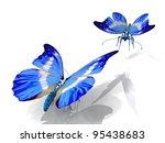 the beautiful butterfly with... | Shutterstock . vector #95438683
