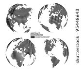 digital world map with copy... | Shutterstock .eps vector #95448643