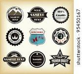 vector design labels for web | Shutterstock .eps vector #95450167