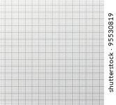 Graph paper with quartered sub sections. Light grey line. - stock photo