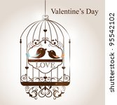 st. valentine's day greeting... | Shutterstock . vector #95542102