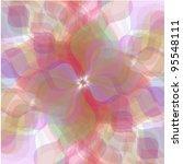 retro vector multicolored... | Shutterstock .eps vector #95548111