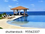 pavilion and swimming pool in... | Shutterstock . vector #95562337