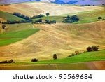 scenic view of typical tuscany... | Shutterstock . vector #95569684