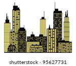 city skyline | Shutterstock .eps vector #95627731