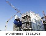 construction worker  giant... | Shutterstock . vector #95631916