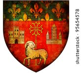 old isolated over white coat of arms of toulouse - stock photo