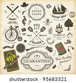 vector set  calligraphic design ... | Shutterstock .eps vector #95683321