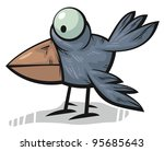 standing funny crow with big... | Shutterstock .eps vector #95685643