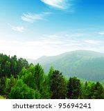 Summer Mountains Landscape Wit...