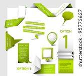 set of green vector web elements | Shutterstock .eps vector #95773627