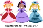 Illustration Of Kids Dressed I...