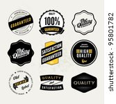 Retro Vintage styled quality labels - stock vector