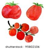 tomato set   Shutterstock . vector #95802106