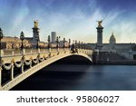 alexandre 3 bridge   paris  ... | Shutterstock . vector #95806027