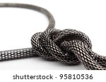 Chain the snake with unit on a white background it is isolated - stock photo