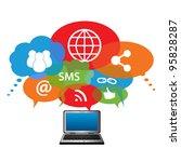 social network symbols in... | Shutterstock .eps vector #95828287