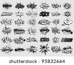 black and white cartoon text... | Shutterstock . vector #95832664