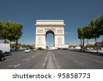 a view down the center of...   Shutterstock . vector #95858773