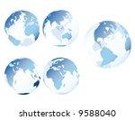 blue glass earth   multiple... | Shutterstock . vector #9588040