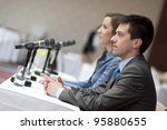 indoor business conference for... | Shutterstock . vector #95880655