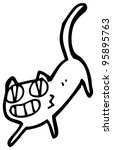 funny cat cartoon | Shutterstock . vector #95895763