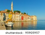 houses with the st. euphemia... | Shutterstock . vector #95905957