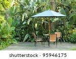 garden furniture   rattan... | Shutterstock . vector #95946175