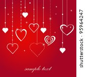 love card with chains and hearts | Shutterstock .eps vector #95964247