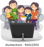 illustration of a family... | Shutterstock .eps vector #96012503