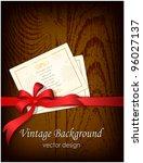 grunge wooden background with... | Shutterstock .eps vector #96027137