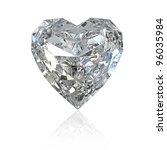 Heart Shaped Diamond  Isolated...