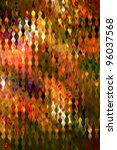 Multicolored stained distorted glass pattern art background - stock photo