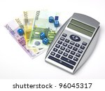 money  gamble and calculations | Shutterstock . vector #96045317