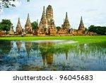 wat chaiwatthanaram  ancient... | Shutterstock . vector #96045683