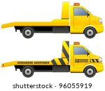 roadside assistance car towing... | Shutterstock .eps vector #96055919