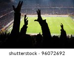 goal  crowd of footbal... | Shutterstock . vector #96072692