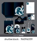 stationery design set in vector ... | Shutterstock .eps vector #96096359