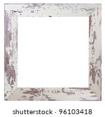 shabby white frame - stock photo