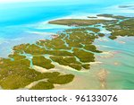 Florida Keys Aerial View - stock photo