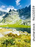 Five Spis Tarns, High Tatras (Vysoke Tatry), Slovakia - stock photo