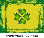 abstract clovers with grunge...