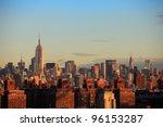 new york city skyline in black... | Shutterstock . vector #96153287