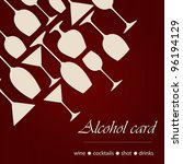 template of a alcohol card | Shutterstock .eps vector #96194129