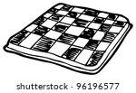 chess board doodle   Shutterstock . vector #96196577