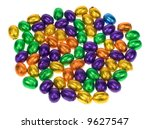 lots of easter eggs isolated on ... | Shutterstock . vector #9627547