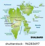 map of spitsbergen   Shutterstock .eps vector #96283697