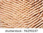 Close up of toothpicks - stock photo
