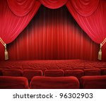 classic cinema with red seats | Shutterstock . vector #96302903